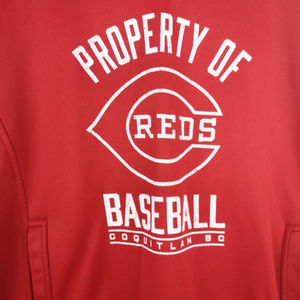 Russell Athletic Hoodie Sweatshirt Reds Baseball
